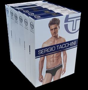 SERGIO TACCHINI. 6 Slip uomo, Cotone, Elastico esterno. Underwear - 9001.