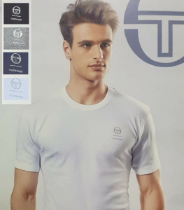 SERGIO TACCHINI. Maglietta intima TM500, Uomo corta, girocollo in Cotone caldo