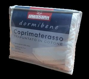 Coprimaterasso imbottito, trapuntato Cotone fasce laterali DORMIBENE Lineasanit