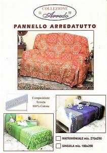 Pannello Arredatutto, Gran Foulard. Matrimoniale, 2 piazze 270x290. 100% Cotone.