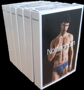 Slip uomo 6 pezzi Cotone bielastico, Elastico esterno 14944 NOTTINGHAM Underwear