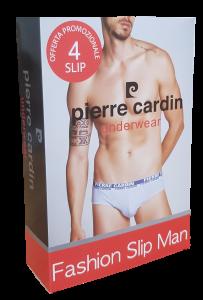 Slip uomo 4 pezzi, Cotone bielastico, Elastico esterno PCV4/HIVE, PIERRE CARDIN.
