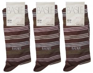 3 Paia Calzettoni, calza lunga Uomo Filo di scozia BASILE - BA031. MADE IN ITALY