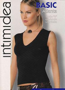 INTIMIDEA. T-Shirt Donna - Maglietta intima. Scollo V, Smanicata. Microfibra.
