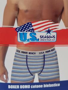 U.S. SEASONS. 6 Boxer uomo cotone bielastico. Underwear - BM102.