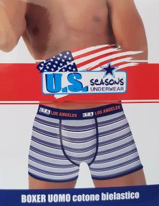 U.S. SEASONS. 6 Boxer uomo cotone bielastico. Underwear - BM103.