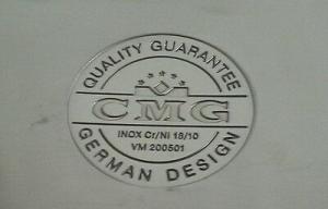 Set Ovale 3 pezzi in Acciaio INOX 18/10. Pentola Ovale CMG. Diametro 32 cm.