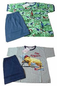 Pigiama Bimba corto. 100% Cotone. CUPIDO. 2 fantasie. Pantaloncino + Maglietta.