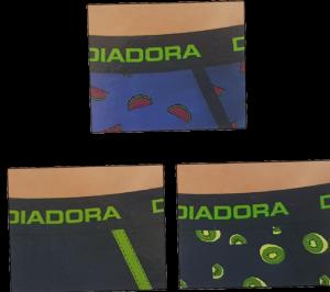 Slip Uomo 6 pezzi elastico esterno. DIADORA 5835 in Cotone elasticizzato. Intimo