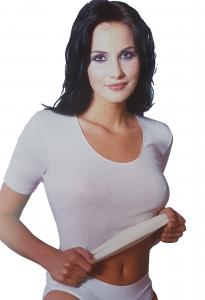 T-Shirt donna, maglietta a mezza manica Lana e Seta senza cuciture MANUFAT 023