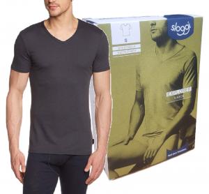 T-Shirt uomo maglietta intima manica corta scolloV Cotone EXPLORER V-NECK SLOGGI