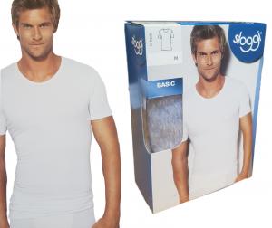 T-Shirt uomo maglietta intima manica corta girocollo Cotone BASIC O-NECK SLOGGI
