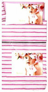 VALERIE. 0.6 Rose Baby. Coordinato. Quilt trapuntino 100 gr. + Lenzuola. Singolo.