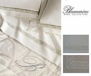 Completo lenzuola Tulle Raso di Cotone. MELANIE, BLUMARINE Matrimoniale 2 piazze