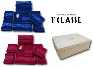ALVIERO MARTINI 1^ CLASSE Completo 12 asciugamani spugna ZEUS. 6 Viso + 6 Ospiti
