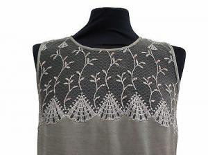 Camicia da notte lunga, Canotta spalla larga. VERDIANI - 04232. Made in Italy.