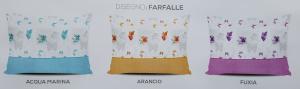 AMBROSIANA Quick. Completo letto, Lenzuola 100% Cotone - FARFALLE. Made in Italy