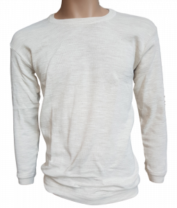 T-Shirt Maglietta Manica Lunga girocollo Uomo 85% Lana 15% Acrilico Art.100 GAIA