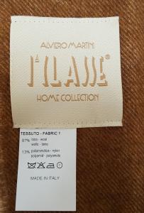 Plaid con frangia Lana 130 x 190 GEOCONFORT 1J9PL90001 ALVIERO MARTINI 1^ CLASSE