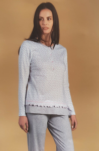 Pigiama Donna invernale serafino LINCLALOR Caldo Cotone 100% 92268 TG.56/58 MAXI