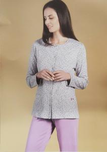 Pigiama donna invernale aperto LINCLALOR caldo cotone 100%  92280 MAXI Calibrato