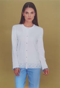 Pigiama donna invernale aperto LINCLALOR caldo cotone 100% 91247 MAXI Calibrato