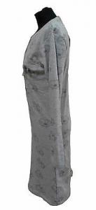Camicia da notte con Manica Lunga. Caldo Cotone. DOLCI CHICCHE - 1410. Grigio.