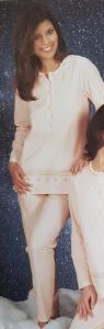 Pigiama donna lungo fresco serafino LINCLALOR Jersey 100% Cotone MAXI 72740