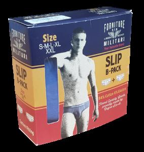 Slip Uomo 2 pezzi cotone. FORNITURE MILITARI by Ragno 60214R Intimo Double Pack.