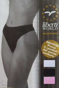 LIBERTI WORLD - 55377. Perizoma in Microfibra senza cuciture. Intimo sexy donna.