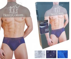 Slip uomo bielastico 3 o 6 pezzi HENRY COTTON'S HC/SU/A8 Cotone intimo fantasia