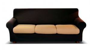 Coppia Copri-Cuscino MAXI 1 Posto, da 70 a 95 cm. GENIUS COLOR 4D, Biancaluna.