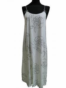 Camicia da notte spallina stretta. ANTHESIS - ITALIAN STYLE. Puro cotone. Bianco