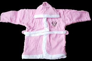 Accappatoio Baby Bambina bimba 100% Spugna di cotone DISNEY MINNIE WQ027 Bagno