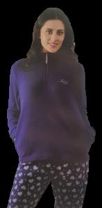 Pigiama Donna Pile caldo Invernale Zip elastici tasche LIABEL LDP11531A1 notte