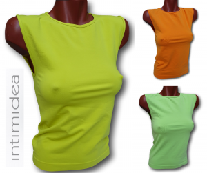 INTIMIDEA. Top, Canotta, T-shirt Donna Spalla Larga, senza cuciture. Microfibra.