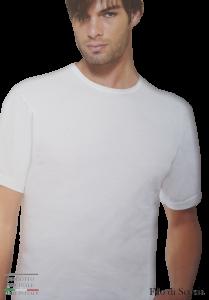 T-Shirt uomo filo di scozia maglietta intima corta girocollo HENRY COTTON HC1000