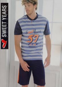 SWEET YEARS. Pigiama corto, Uomo in 100% Cotone Jersey. Art. SW30123.
