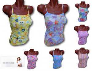 INTIMIDEA. Top, Canotta, T-shirt Donna Spalla stretta, Microfibra senza cuciture