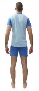 NOTTE & CO. Pigiama corto, Uomo in 100% Cotone. Art. 3551 LAMEZIA Mod. Serafino.