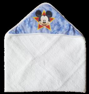 Accappatoio Triangolo neonato Baby 100% Spugna di cotone DISNEY MICKEY Bagnetto