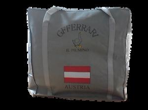 Piumone, Piumino d' oca 100% invernale. GF. FERRARI - DOLOMITI. Puro Cotone.