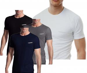 T-Shirt uomo 3 pezzi, maglietta intima manica corta girocollo Cotone DIADORA 900