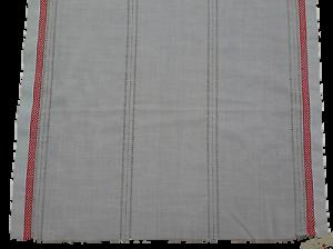 Tenda a metro, 100% Cotone non rifinite. Tessuto Tendaggi Altezza 60 cm. Rosso.