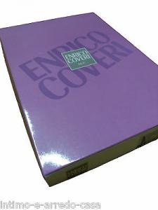 Pigiama Donna Lungo bordato ENRICO COVERI Caldo cotone. EDI8160A. Rosa e Panna.