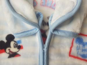Baby Sac Sacco neonato Copertina in Pile con zip 95x85 cm. DISNEY MICKEY MOUSE