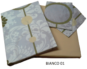 Set Copripiumone, copripiumino. Matrimoniale, 2 Piazze. LINEASANIT - BIANCO 01.