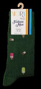 Calzini lunghi 3 paia, Uomo. 824 NIGRA Calza lunga in Filo di scozia Cotone Makò