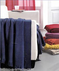 Plaid ALPACA con francia. G. FERRARI. Tessuto in Pile 140 x 170. Vari colori