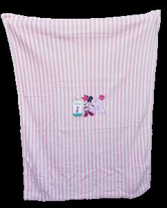 Copertina Baby in soft pile ricamato 75x100 Culla (Carrozzina). DISNEY - MINNIE